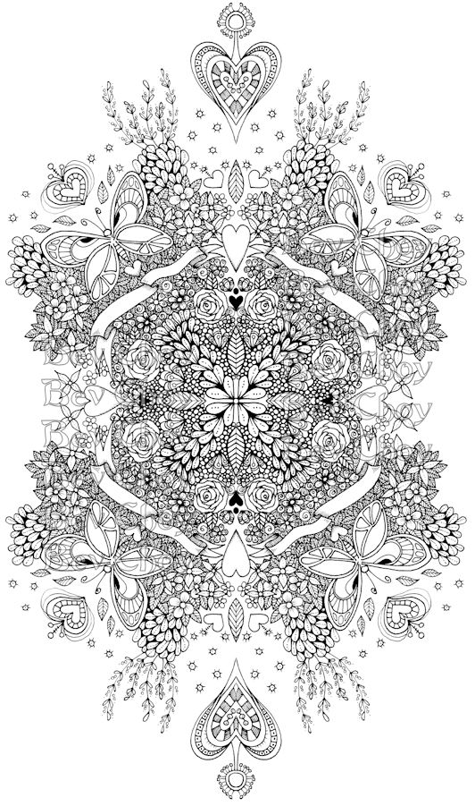 Hearts N Crowns By Bev Choy My Doodles Coloring Pages
