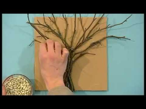 Mister Maker Tree Made With Twigs Split Peas Lentils