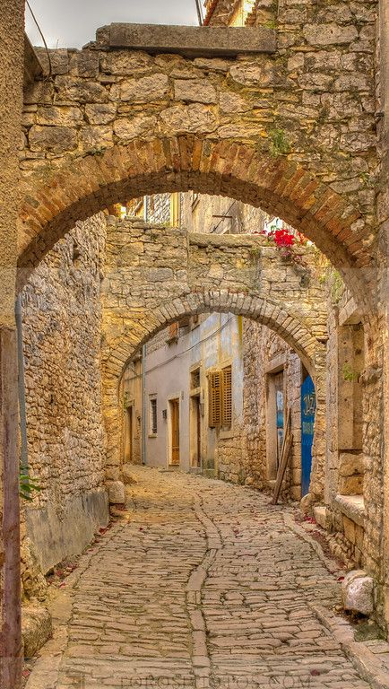 Paved with good intentions - Paved alley in the Istrian historic center of Labin Croatia