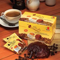 DXN Lingzhi Coffee 3 in 1 is specially blended with finest quality coffee beans and 100% pure Lingzhi with no artificial colouring, flavoring and preservatives. It is very refreshing and healthy. Content of the box	20 sachets x 21g Retailer price	€14.20 Distributor price:	€11.40 Click on the picture