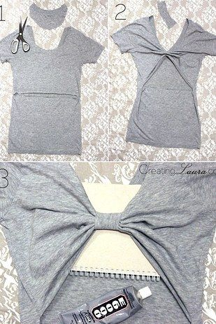 Give your back a cute cut-out. | 26 Easy Style Hacks To Turn An Old Tee Into A Head-Turner