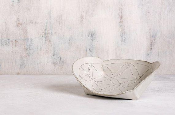 White Ceramic Tray white serving  platter   modern by FreeFolding