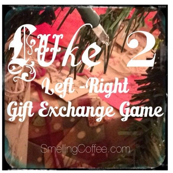 "A Scriptural twist on the Right/Left Gift Exchange Game.  ""Luke 2 Gift Exchange Game"" on SmellingCoffee.com"