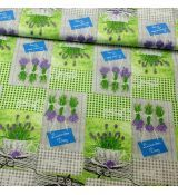 Levanduľová patchwork zelený