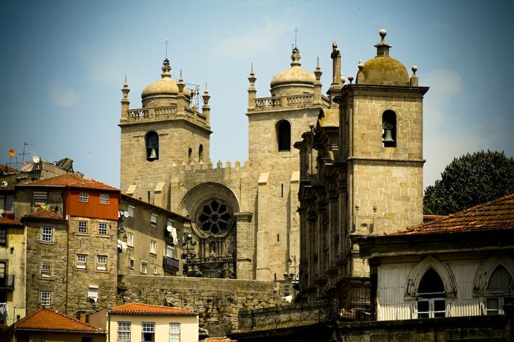 Oporto Cathedral (Gothic) 1110 AD - Portugal.