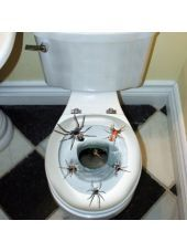 spider toilet topper party city oh halloween is not just about treats uno its also about tricks - Party City Halloween Decorations