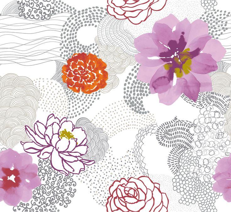 motifs orchidés tissus - Recherche Google