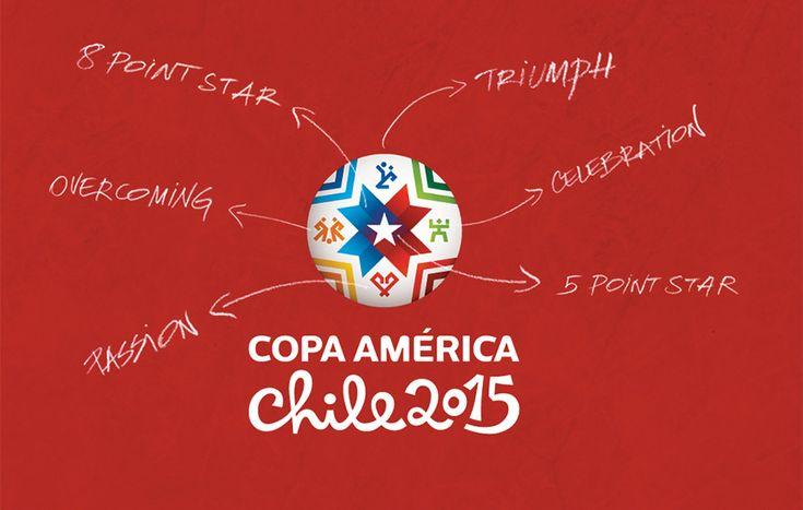 Defesa Visual - Logo Copa América 2015 / Event Identity - Copa America 2015 #Brand #Design