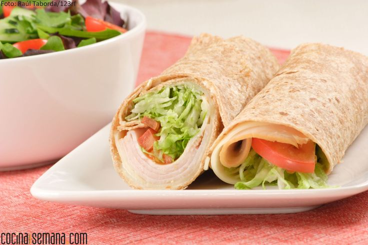 Wrap de jamón y queso, una opción rápida y sencilla para el almuerzo. Clic en la imagen para ver la preparación.