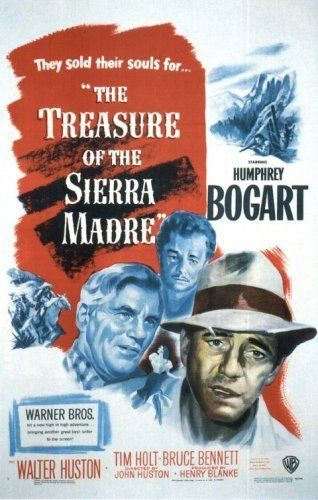 "The Treasure of the Sierra Madre (1948)  ""Badges? We ain't got no badges! We don't need no badges! I don't have to show you any stinking badges!""[12]"