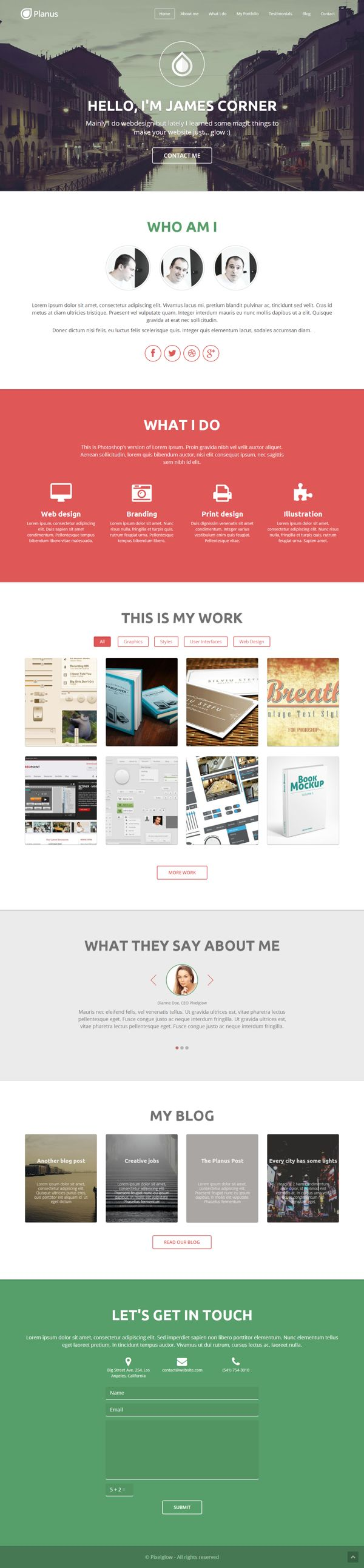 PlanusWP - One PAge WordPress Theme #web #design