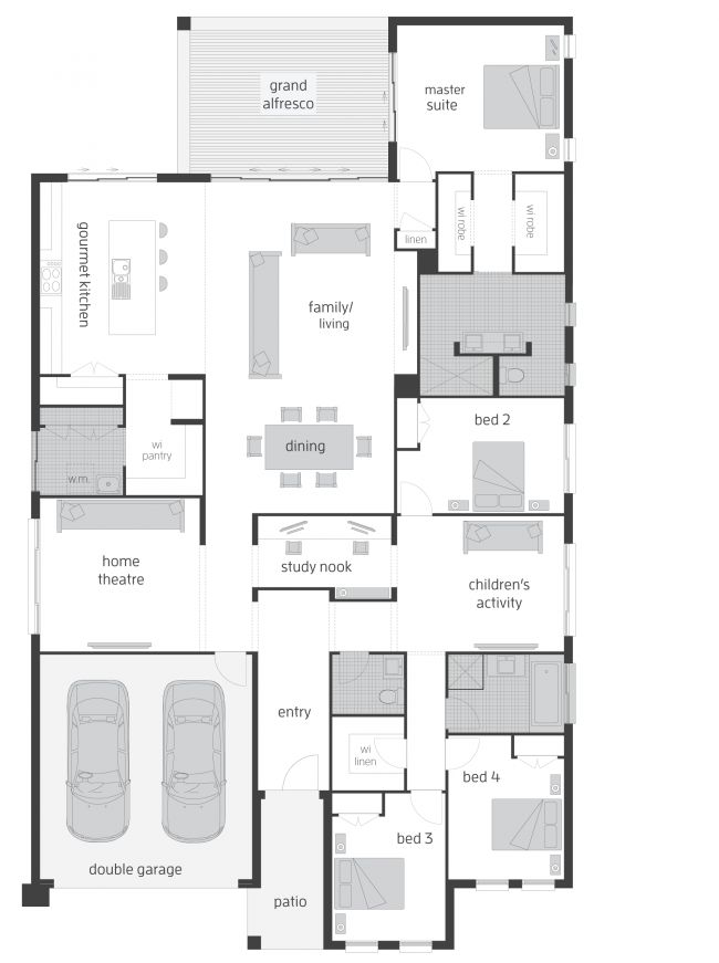 Would extend the deck to the edge of the kitchen. Great floor plan!