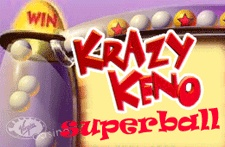 Krazy Keno Superball is a bingo player's delight! Pick from one to ten lucky numbers and watch them fly out our Krazy hopper!
