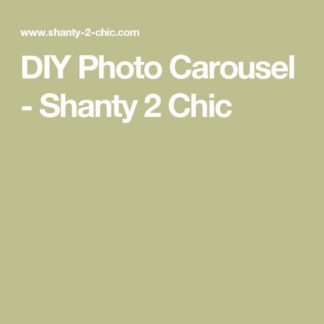 DIY Photo Carousel - Shanty 2 Chic