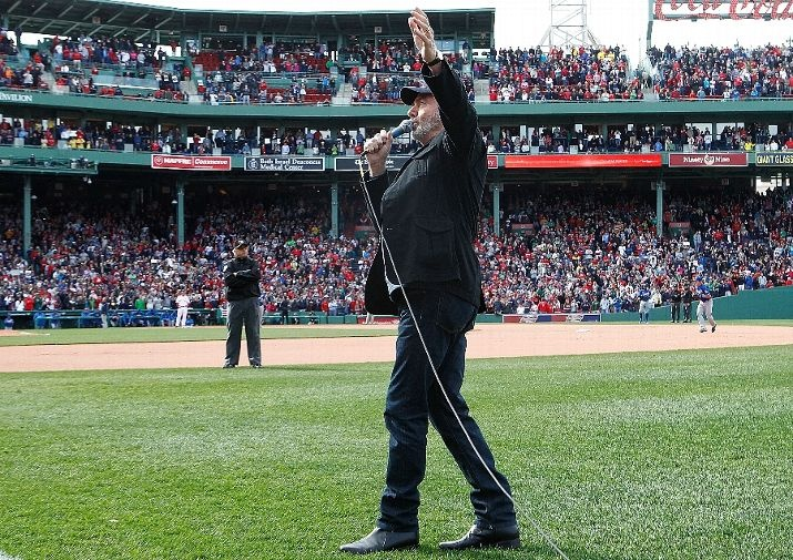 Boston ma april 20 neil diamond sings quot sweet caroline quot during a