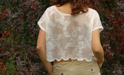 Koronkowa bluzeczka beżowa (proj. mix-tings)