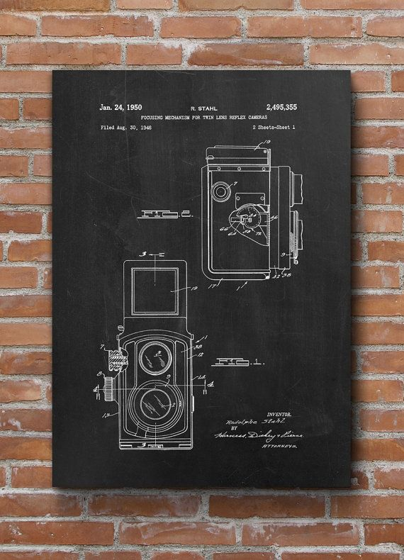 Vintage Camera Patent Print Vintage Camera Poster Home by dalumna