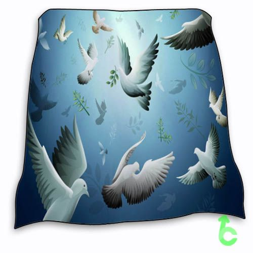 New Bird Dove Flying Drawing Blanket
