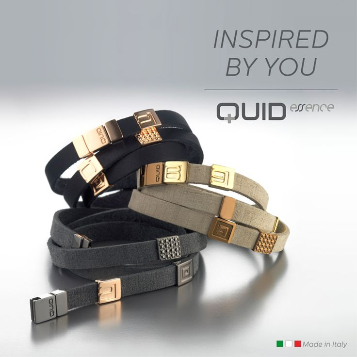 Quid's leather bracelets are customizable with bronze elements with gold, pink, black or chocolate colored finish.