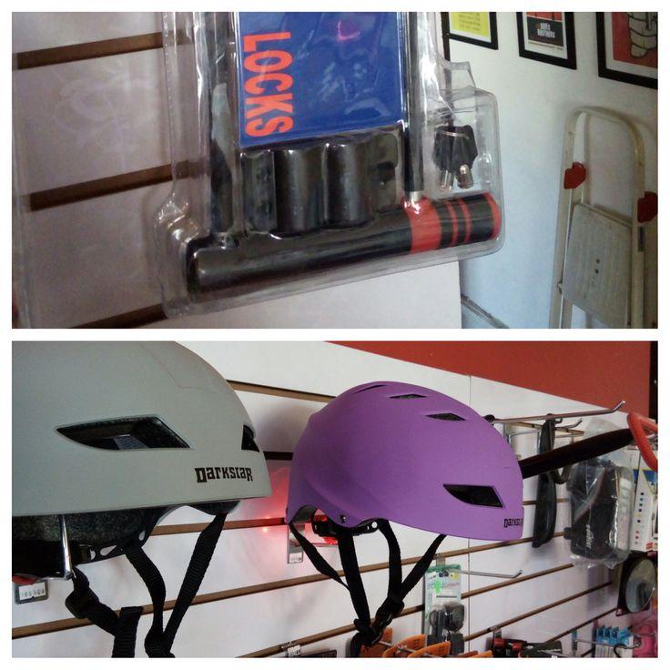 Increíble oferta casco con luz y regulador certificado + ulock acero 32 cms. A solo 29.700. #cascobici #ulock #promo