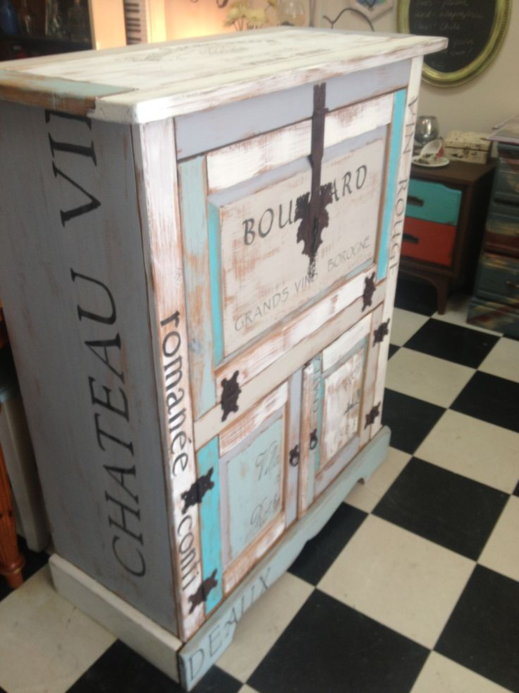 Wine crate cabinet
