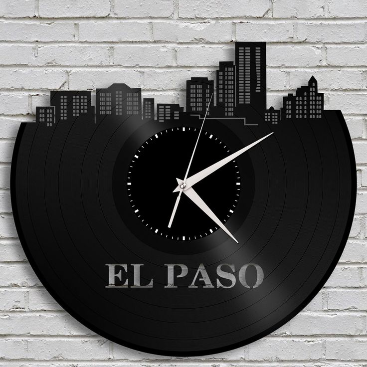 Wedding Gift   Personalized Clock, El Paso Skyline, Texas Wall Art, Gift For