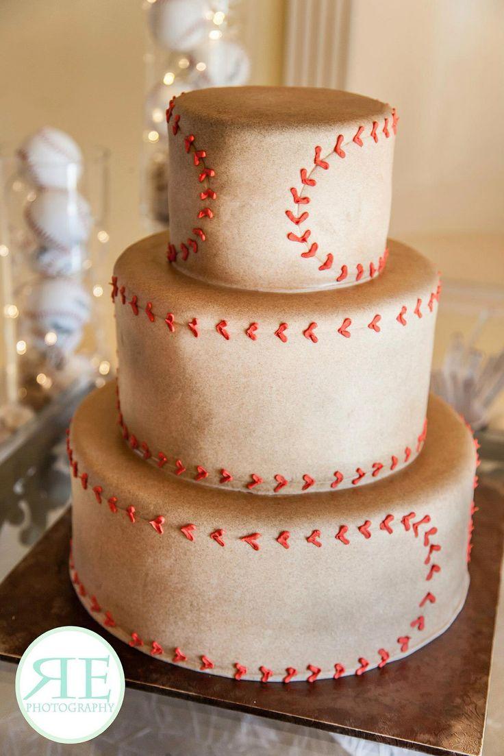 Baseball Themed Wedding Cakes