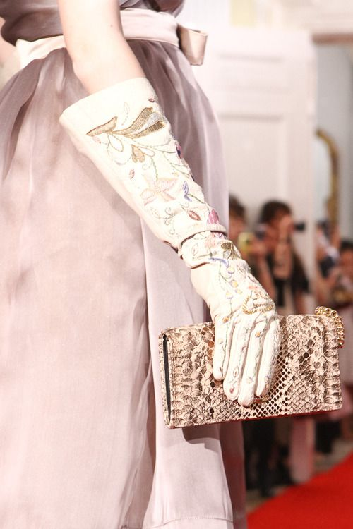 Accessories on the catwalk at Vivienne Westwood's #jubilee event at Tokyo's British Embassy