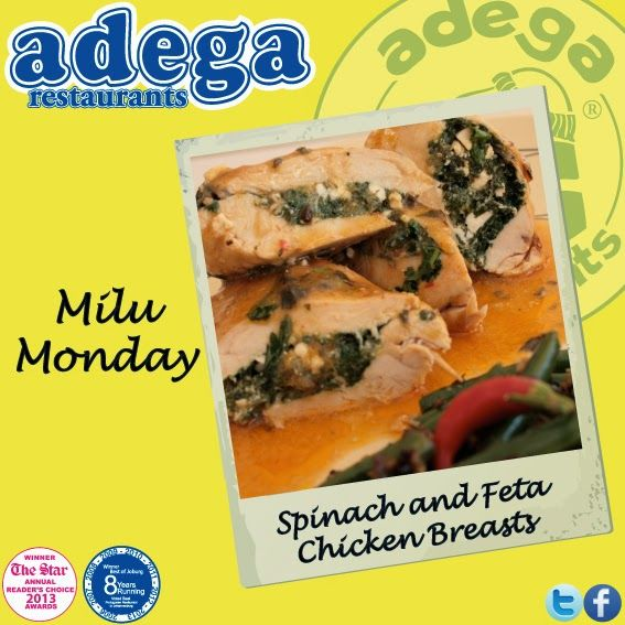 Milu Monday - Spinach and Feta Chicken Breasts