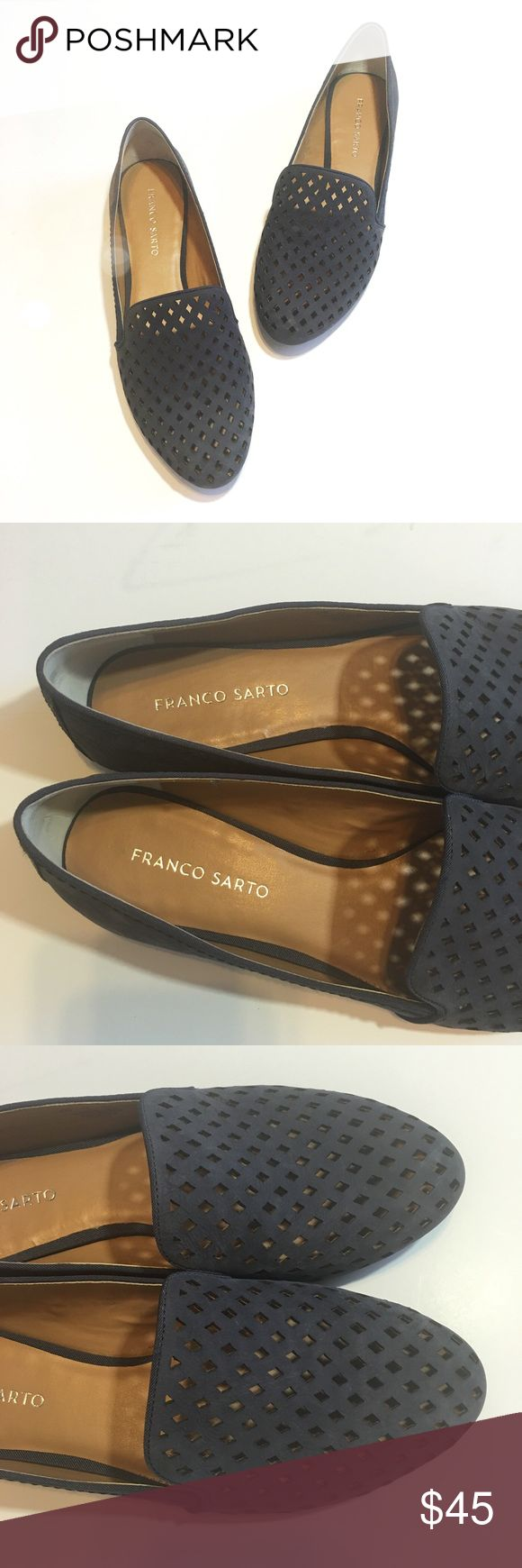 New Franco Sarto Navy Laser Cut Loafers So cute and perfect for a casual weekend! Brand new and never worn. Size 9.5. Navy leather with laser cut details. No trades!! 01311780gwf Franco Sarto Shoes Flats & Loafers