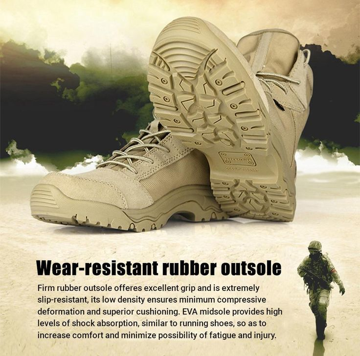 Military Tactical Lightweight Desert Combat Boots For Men Breathable Multi-Purpose All Terrain Boots