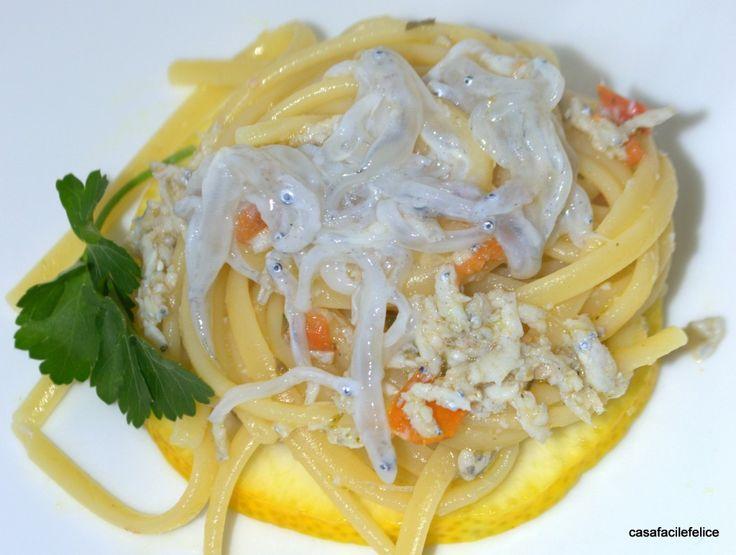 Linguine con bianchetti (neonata). on http://casafacilefelice.org