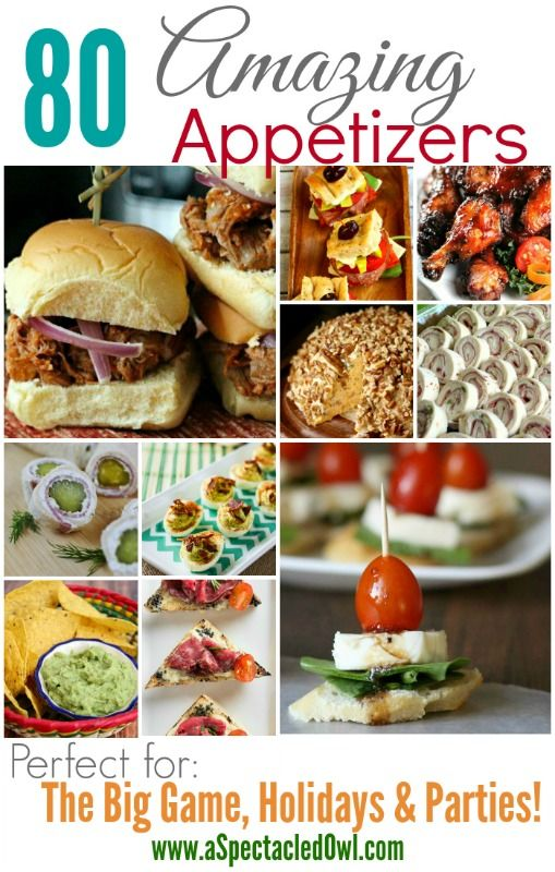 80 Amazing Appetizer Recipes - Perfect for The Big Game, Holidays & Parties