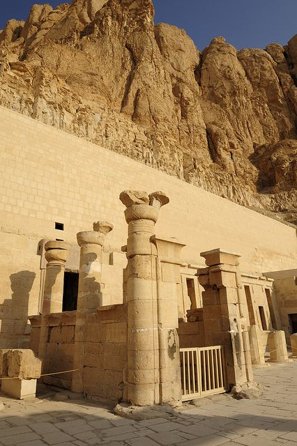 Mortuary Temple of Hatshepsut, Luxor, Egypt. (Nearly died crossing the bridge to get here)