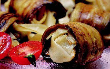 Erişteli Patlıcan Rulo Tarifi
