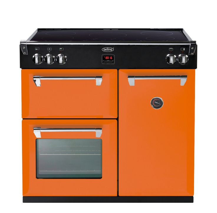 Freestanding Range Cookers Uk Part - 16: This Orange Oven Is Part Of Bellingu0027s British Quality Heritage Collection.  Colour Boutique Lets You. Belling Range CookerElectric ...