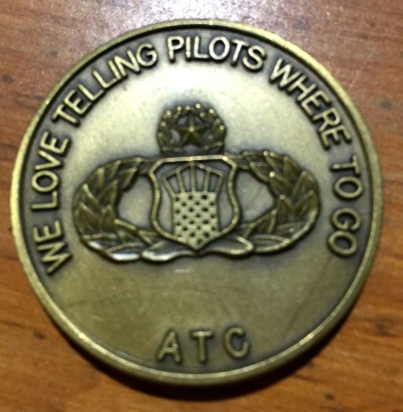 """""""Air Traffic Controllers"""" ATC We Love Telling Pilots Where To Go Medallion"""
