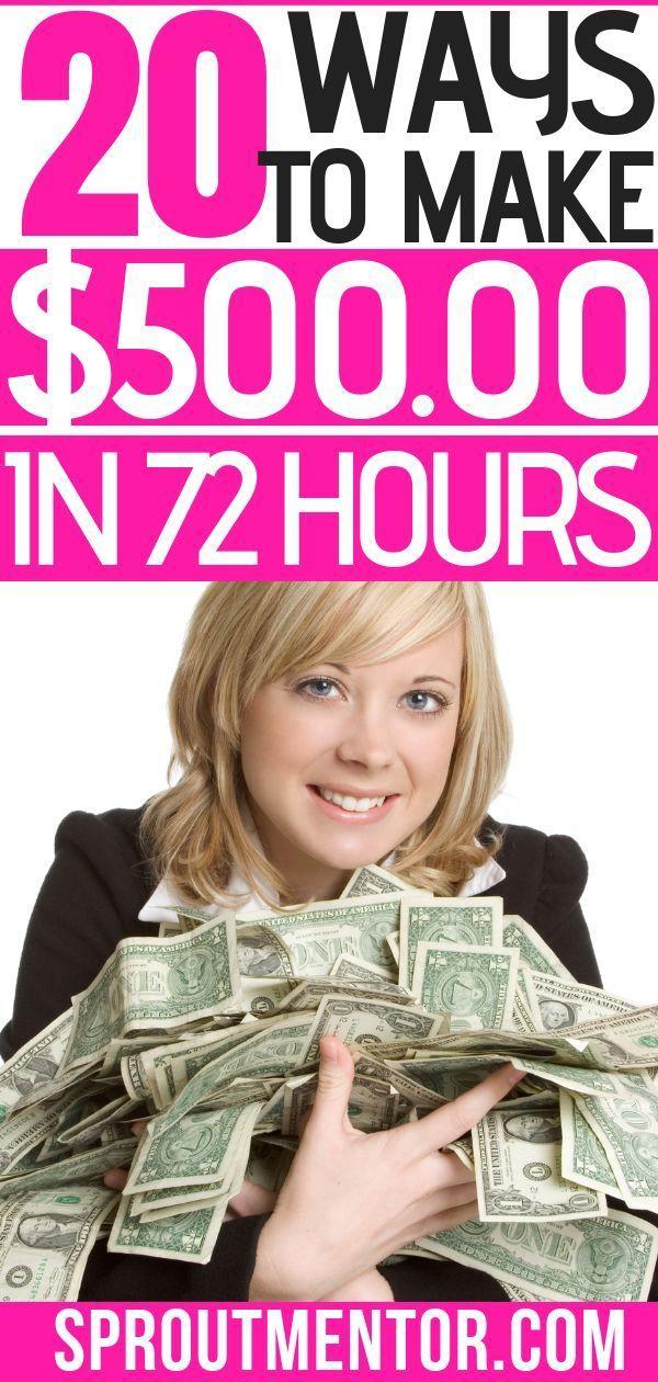 21 einfache Möglichkeiten, innerhalb von 24 bis 72 Stunden schnell Geld zu verd… – All About Money