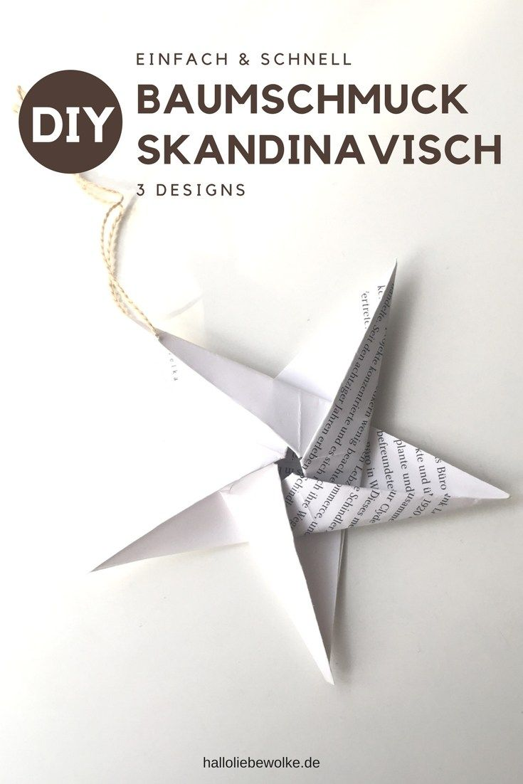 Lust auf ein einfaches, schnelles und schickes DIY im skandinavischen Stil für Weihnachten? Ich zeige euch 3 Designs, die man auch mit Kindern wunderbar basteln kann. Zwei aus Papier und eins aus Salzteig. Für alle, die Baumschmuck aus Skandinavien mögen! :)