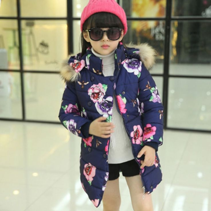 Winter Coat For Girls Children  Big Girls Cotton Jacket With Fur Hood Kids Wear #Unbranded #Fashion