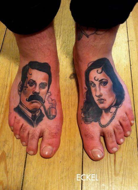 Вдохновение: Татуировки на подъеме стопыTattoos on the Foot - Tattooed Souls