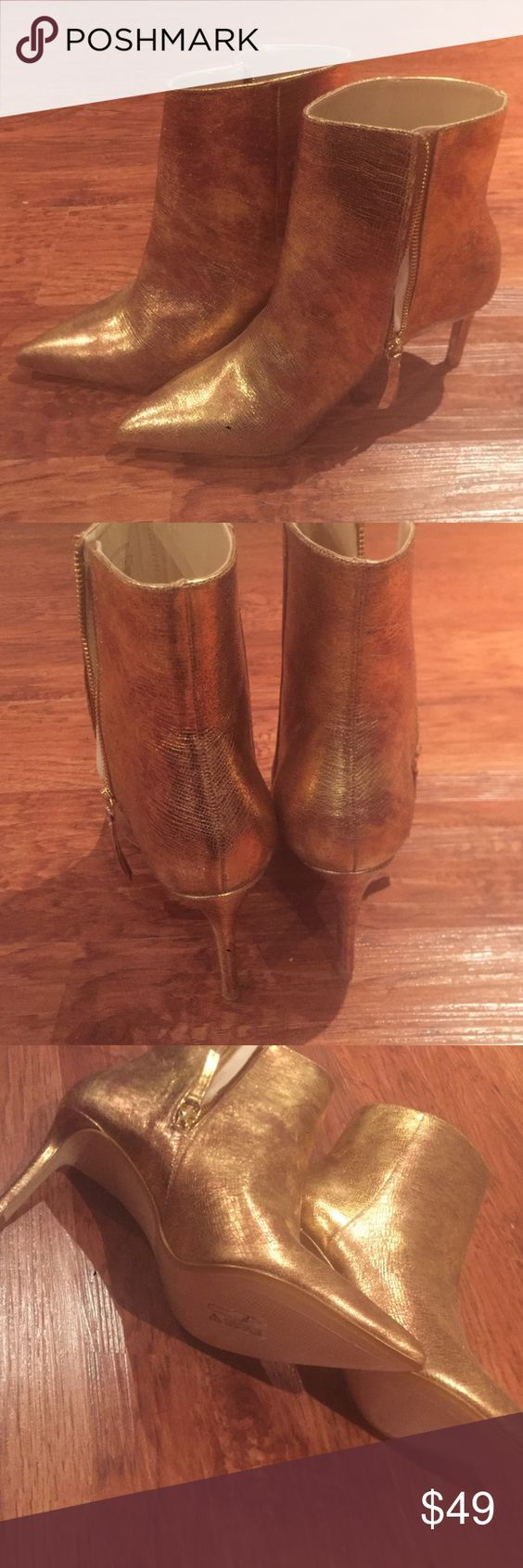 Zara gold ankle boots New never worn gold metallic ankle boots Zara Shoes Ankle Boots & Booties