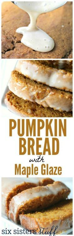 Pumpkin Bread with Maple Frosting - Six Sisters' Stuff | This divine, moist, fall bread is perfect for brunch, breakfast, or a good snack. #recipe #pumpkinrecipe