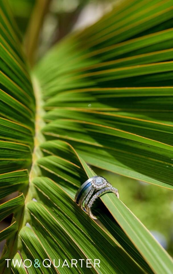 Destination wedding rings. Wedding photography at The Dockyards in Bermuda! Thanks @twoandquarter Photography
