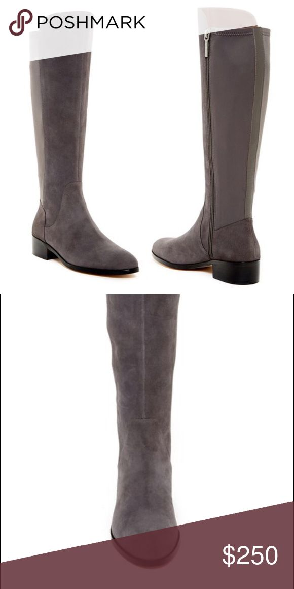 🎉HP!🎉Donald Pliner grey suede knee high boots 6 New and never worn. Side zip worn gore back. Looks and fits beautifully. Sorry no box. Bundle to save 25%! Donald J. Pliner Shoes Over the Knee Boots