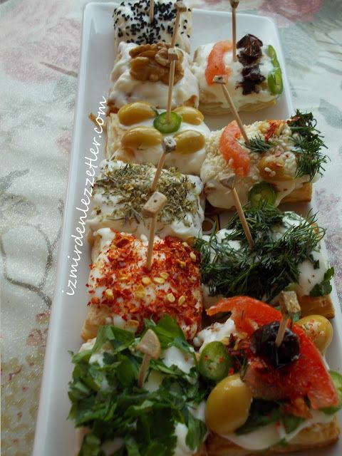 Milföy Kanepe (Görüntüler ile) | Yemek tarifleri, Meze ...