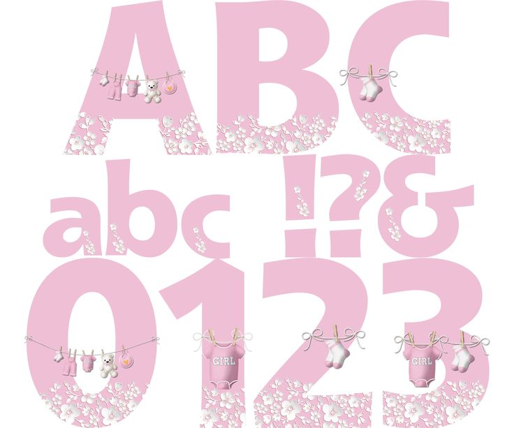 Baby Shower Alphabet & Numbers