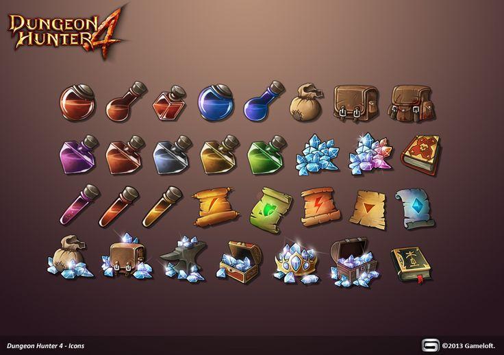 Dungeon Hunter 4 Icons by Panperkin.deviantart.com on @deviantART