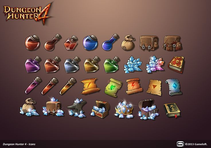 Dungeon Hunter 4 Icons by Panperkin.deviantart.com on @deviantART