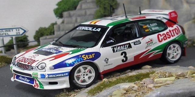 Tour de Corse - Rallye de France 1999 Toyota Corolla WRC Sainz/Moya 1/43